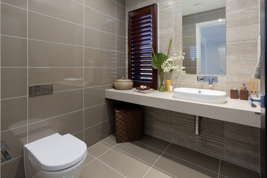 Metricon tile studio Small bathroom design melbourne